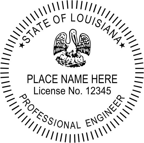 Louisiana Engineer Stamp Seal