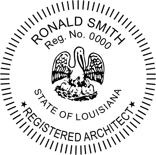 Louisiana Architect Stamp Seal