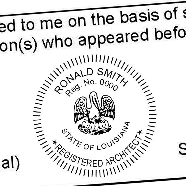 State of Louisiana Architect Seal Imprint