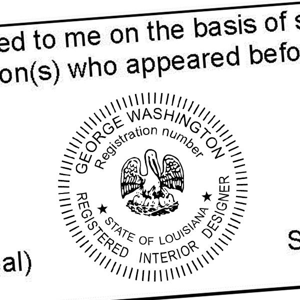 State of Louisiana Interior Designer Seal Imprint
