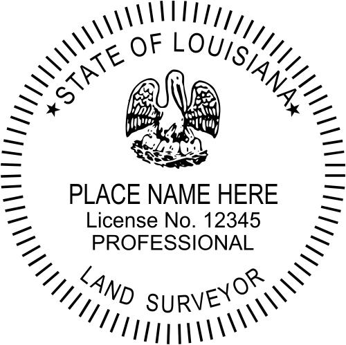 Louisiana Land Surveyor Stamp Seal