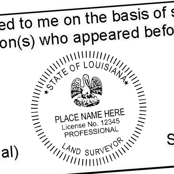 State of Louisiana Land Surveyor Seal Imprint
