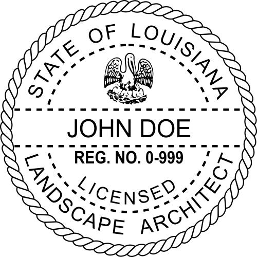 Louisiana Landscape Architect Stamp Seal