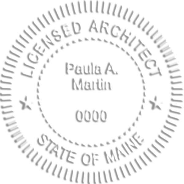 State of Maine Architect Embosser Seal