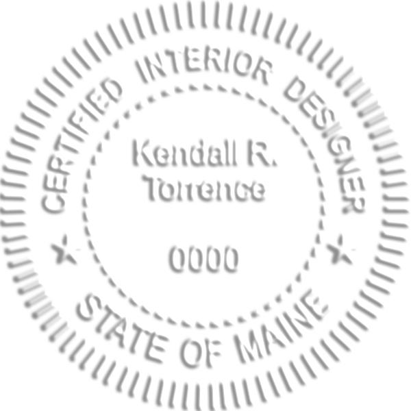 Maine Interior Designer Embosser Seal