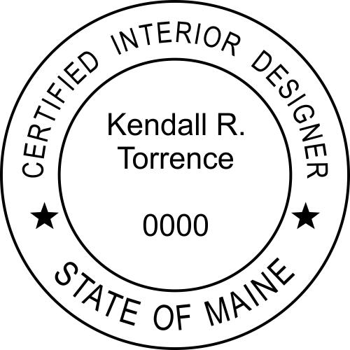 Maine Interior Designer Rubber Stamp
