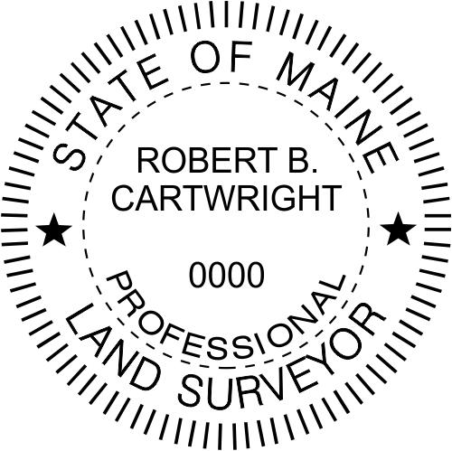 Maine Land Surveyor Stamp Seal
