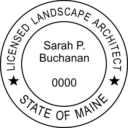 Maine Landscape Architect Rubber Stamp