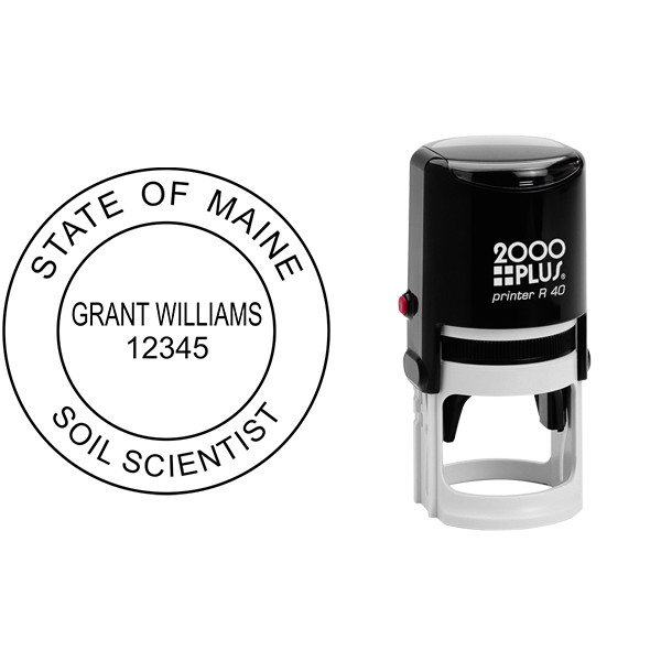 State of Maine Soil Scientist Seal Body and Imprint