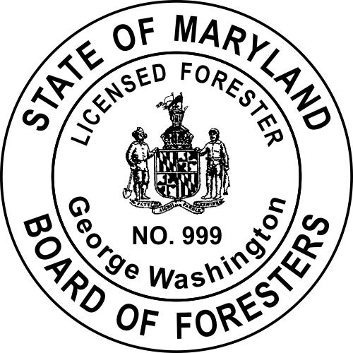 Maryland Forester Stamp Seal