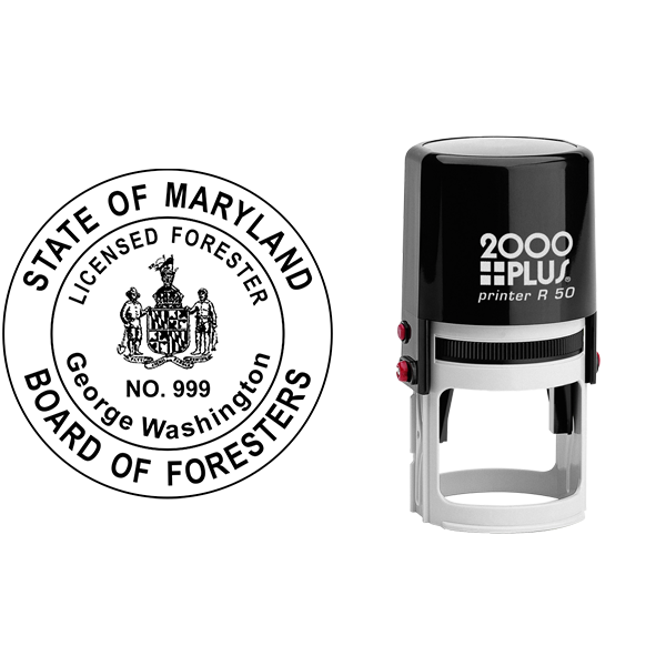 State of Maryland Forester Seal Body and Imprint