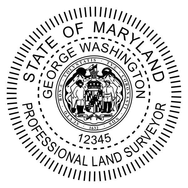State of Maryland Land Surveyor Seal Body and Imprint
