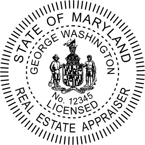 Maryland Real Estate Appraiser Stamp Seal