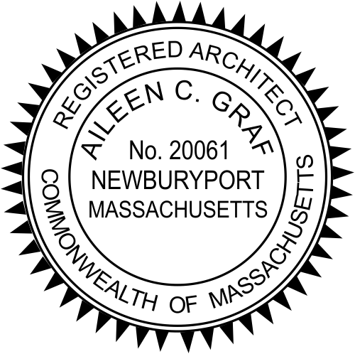 Massachusetts Architect Stamp Seal