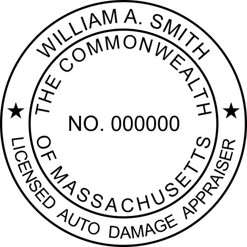 Massachusetts Auto Appraiser Stamp Seal