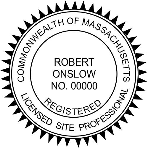 Massachusetts Site Professional Stamp Seal