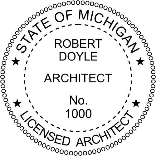 Michigan Architect Stamp Seal