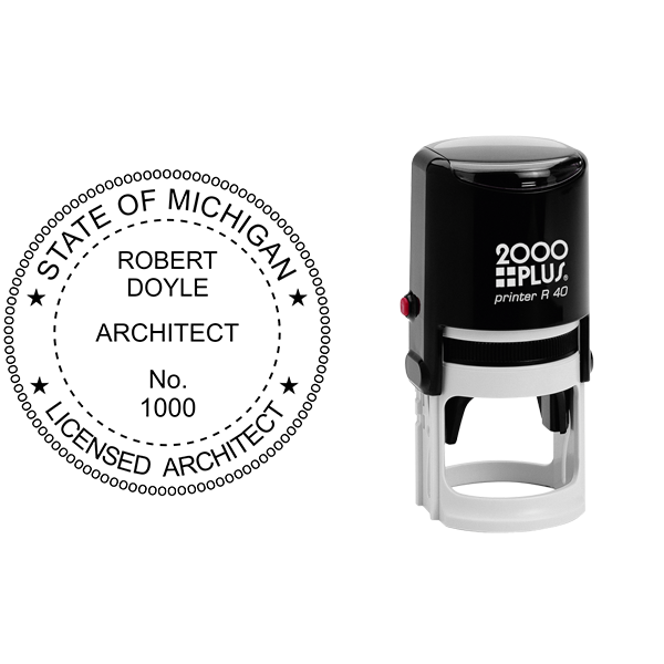 State of Michigan Architect Seal Body and Imprint