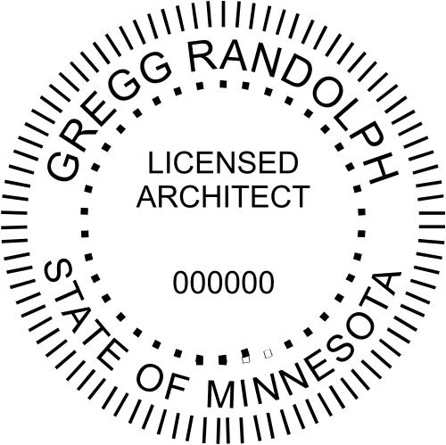 Minnesota Architect Stamp