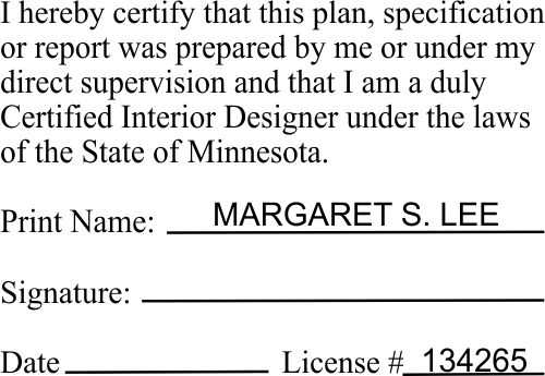 Minnesota Certified Interior Designer Stamp