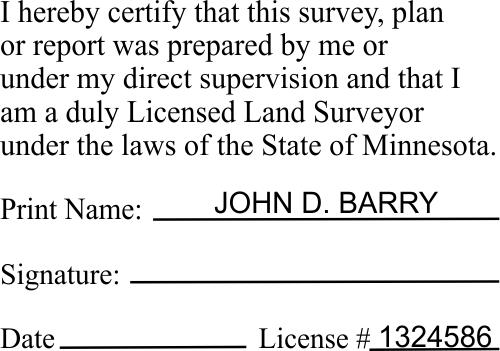 Minnesota Certified Land Surveyor Stamp