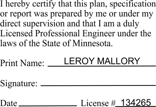 Minnesota Certified Engineer Stamp