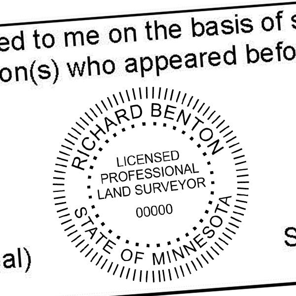 State of Minnesota Land Surveyor Seal Imprint