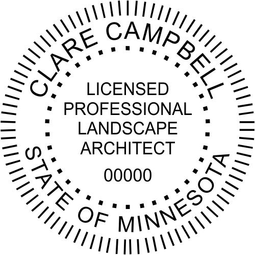 Minnesota Landscape Architect Stamp