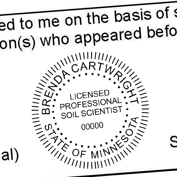 State of Minnesota Soil Scientist Seal Imprint