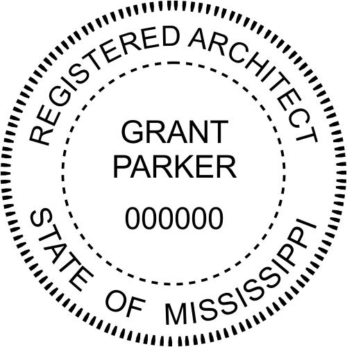 Mississippi Architect Stamp