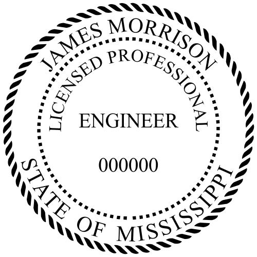Mississippi Engineer Stamp Seal