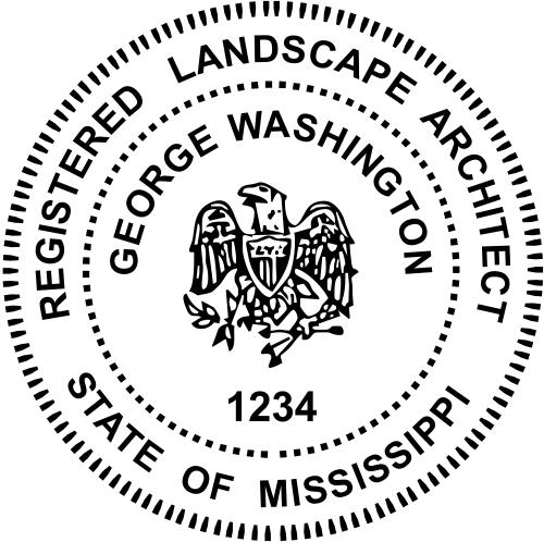 Mississippi Landscape Architect Stamp Seal