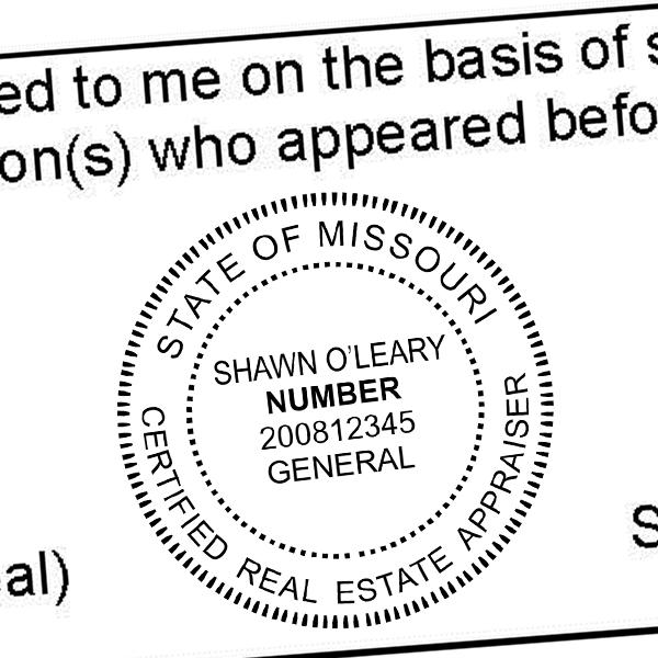 State of Missouri Appraiser Seal Imprint