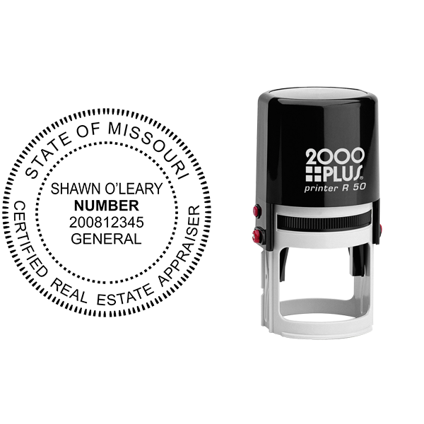 State of Missouri Appraiser Seal Body and Imprint