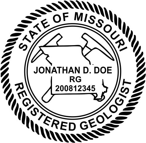 Missouri Geologist Stamp Seal