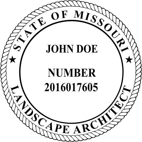 Missouri Landscape Architect Stamp Seal