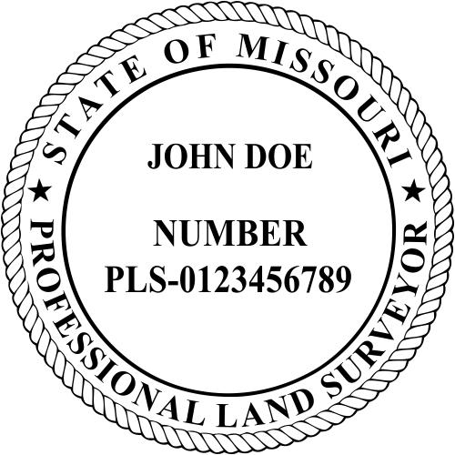 Missouri Land Surveyor Stamp Seal