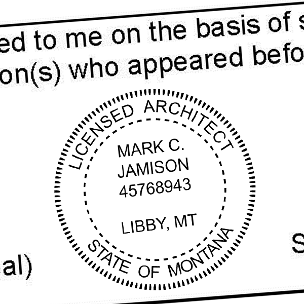 State of Montana Architect Seal Imprint