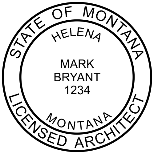 Montana Architect Stamp solid border