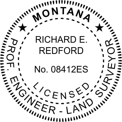 Montana Dual Engineer & Surveyor Stamp Seal