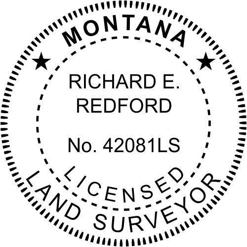 Montana Land Surveyor Stamp
