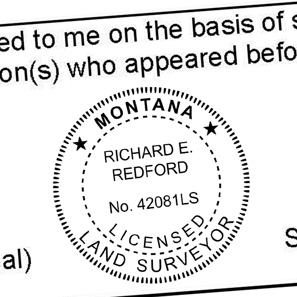 State of Montana Land Surveyor Seal Imprint