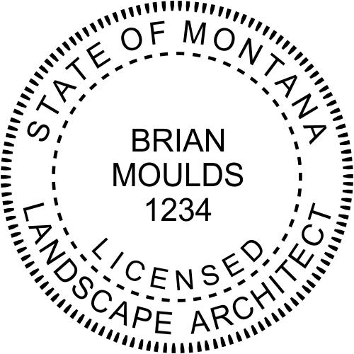 Montana Landscape Architect Stamp