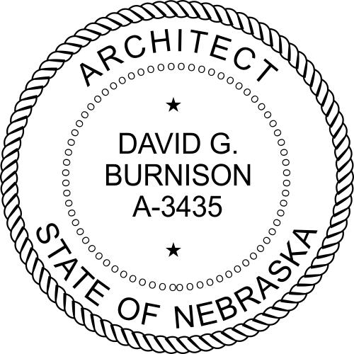 Nebraska Architect Stamp