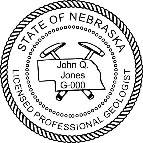 Nebraska Geologist Stamp Seal