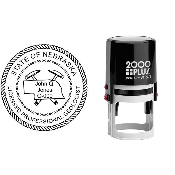 State of Nebraska Geologist Seal Body and Imprint