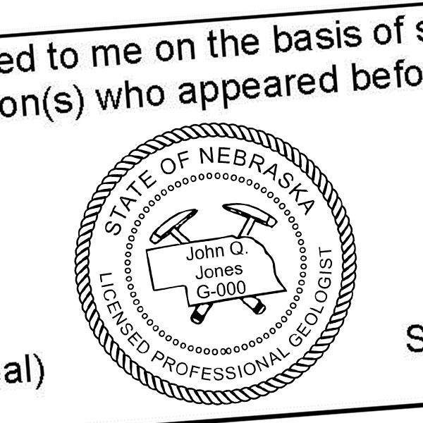 State of Nebraska Geologist Seal Imprint