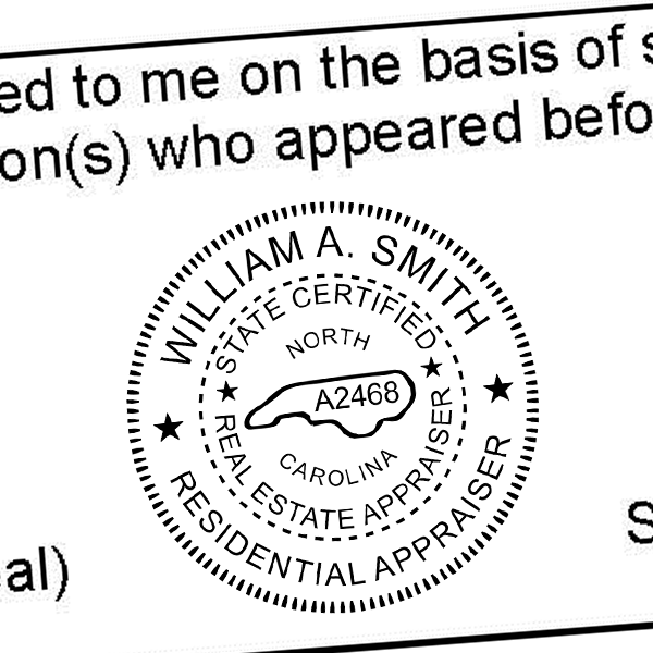 State of North Carolina Certified Appraiser Seal Imprint