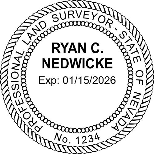 Official Nevada Land Surveyor Stamp & Seal