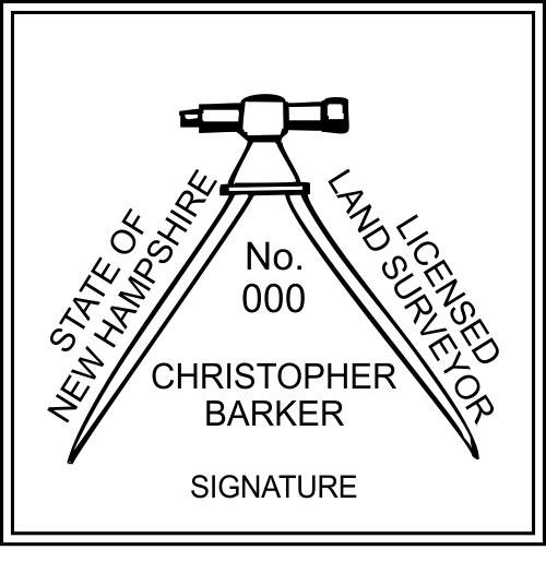 New Hampshire Land Surveyor Stamp Seal